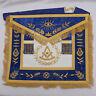 New Master Mason Lodge Masonic Regalia Apron Blue Velvet - BWS