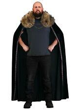 Men's Black Faux Fur Collar Viking Cape SIZE Standard (Used)