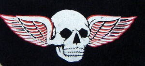 iron on transfers 10 small winged skulls white/red wholesale print your own