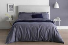 Sheridan 100 cotton navy king striped quilt cover set