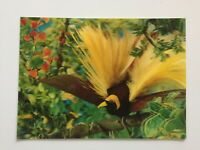 "3D Lenticular Postcard ""Bird of Paradise"" - Printed by Toppan, Tokyo, Japan"
