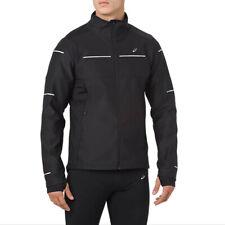 Asics Mens Lite-Show Winter Running Jacket Top Black Sports Full Zip Breathable