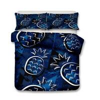 Novelty Funny Pineapple Beach Surf Skull Duvet Quilt Cover Set Gift Tropical