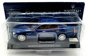 EBOND Modellino Maserati Quattroporte 2003 - blu - Die cast - 1:43 - 0082.