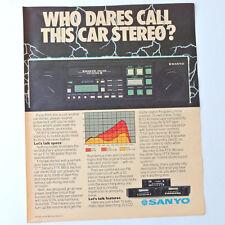 SANYO FTX 180 / Advert Publicidad Reklame Car Audio Stereo Dolby C Retro Vintage