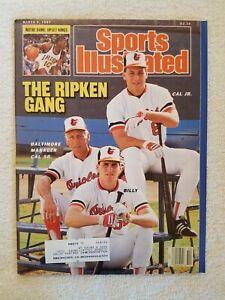 Original Vintage Sports Illustrated SI 3/9/1987 Cal Ripken Jr. Family Cover