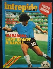 Intrepido n. 29 1984 Diego Armando Maradona con poster ancora spillato