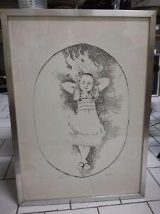Lithographie Alberto Fremura 53x74cm Bild Kunst Grafik Endrohr n° 49/70