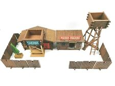 Western Fort Blockhaus Sheriff Indianer Cowboys Western DDR Holz Spielzeug