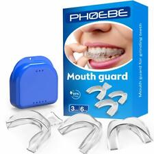 6 Pack Athletic Mouth Dental Guard Teeth Grinding Moldable Eliminates Bruxism