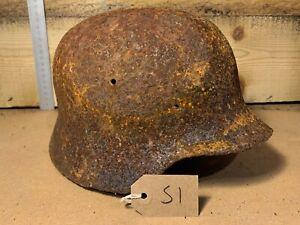 Original WW2 Normandy Relic German Army Wehrmacht Helmet - #51