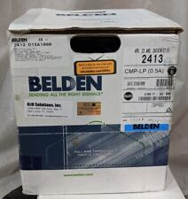Belden 2413 D15A1000 - 4-Pair Enhanced Cat 6 Plenum Cable, 1,000 ft. - Pull-Box