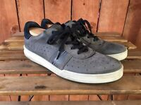 ECCO Gray Leather Casual Walking Lace up Shoes  Men Size EU 44
