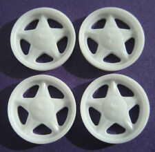 Resin 1/25 1/24 Fox Body Mustang Pony Wheels, LX 5.0 Four Eye Fox GT