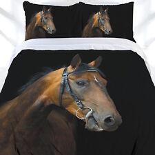 Horse Dark Rider Duvet | Doona Quilt Cover Set | Horse Bedding Set | Double