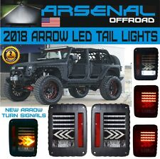 #1 LED Tail Lights Arrow Turn Signal Reverse Lamps For Jeep Wrangler JK 07-16