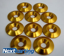 Kart Alloy CSK 30 x 5 x 8mm Seat Washers M8 Gold  x 10  - NextKarting