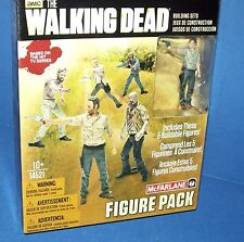 AMC The Walking Dead Building Set 5 Figure Pack Rick McFarlane Prison Tower Gate