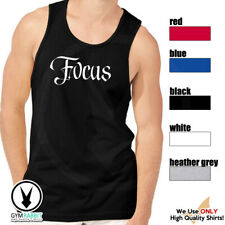 Focus Gym Rabbit Men Muscle Sleeveless Workout Fitness Weightlifting Tank E575