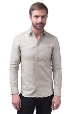 EMPORIO ARMANI Shirt Size 39 / 15 1/2 / M Textured Round Hem Long Sleeve RRP€266