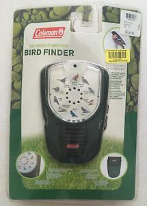 Coleman 50 Bird Calls/Finder, Manual, Carrying Case w/Belt Loop/Strap, LED, NEW