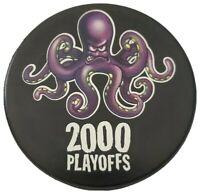 2000 PLAYOFFS NHL RARE 🐙 LOGO DETROIT RED WINGS BRING IT HOME! PUCK - 🇸🇰 GEM!