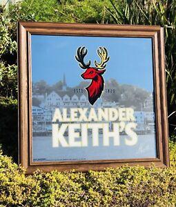 "Alexander Keith's Beer Bar Whiskey Deer Pub Man Cave Big Mirror  ""New"" 31x31"