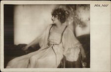 Actress Mia May c1910 Real Photo Postcard