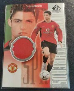 CRISTIANO RONALDO 2004 UD SP Authentic Threads Jersey Game Used Match Worn Shirt