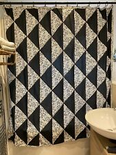 Urban Outfitters Cotton Shower Curtain, Geometric Pattern