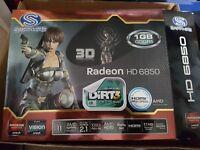 Sapphire AMD Radeon HD6850 GDDR5 Graphics Card GPU HDMI/DisplayPort/2x DVI PCI-E