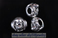 10pcs 5mm Charm Tibet Silver 3D Dog spacer bead Diy Jewelry making Bracelet 7606
