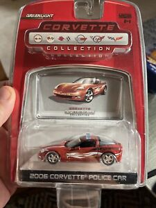 GREENLIGHT CORVETTE COLLECTION 2006 CORVETTE POLICE CAR NEW 2007 Limited Edition