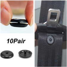 10 Pairs Clip Seat Belt Stopper Buckle Button Universal Fastener Safety Car Part