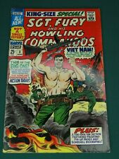 MARVEL COMICS SGT. FURY AND HIS HOWLING COMMANDOS KING-SIZE SPECIAL #3 SEE PICS!