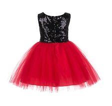 Wedding Pageant Glitter Sequin Tulle Flower Girl Dress Toddler Easter Kids 123RF