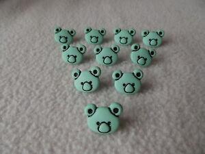 10 x MINT GREEN KOALA BEAR BUTTONS ~ APPROXIMATE SIZE 10mm x 10mm