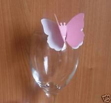 50 Double Butterfly Wedding Place Cards / Table Decorations & Embellishments