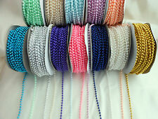 PEARL BEAD STRING 3mm x 3 Metre length Crafts, favour decoration  Choose Colour