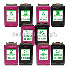 10 PACK HP 60XL Reman ink cartridges CC641WN CC644WN HP60XL HP 60 XL HP 60XL