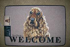 Golden Cocker Spaniel DOGGY DOOR MATS Decorative Dog Breed Specific Welcome Mat