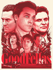 Joshua Budich Goodfellas Bloody Red GID Variant Poster Martin Scorcese Deniro SN