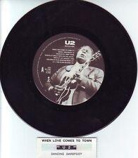 "U2 & B.B. KING  When Love Comes To Town 45 rpm 7"" record + juke box title strip"