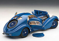 Autoart BUGATTI ATLANTIC 57S 1936 BLUE WITH SPOKED WHEELS 1/18 In Stock!