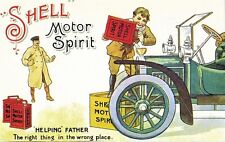 SHELL MOTOR SPIRIT HELPING FATHER POSTCARD MINT UNUSED AS SCAN