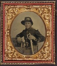 American Civil War Union Soldier North 1860 USA 6x5 Inch Reprint Photo