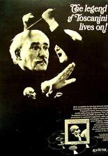 Arturo Toscanini 1967 original Poster Advert Treasure Of Historic Broadcasts