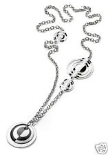 "Invicta Sterling Silver Necklace 35"" Luce Italian Designer MSRP $824"