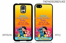 Lilo and Stitch Ohana Means Family Phone Case for Apple iPhone or Samsung Galaxy