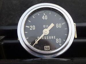 Stewart Warner 82207 Std 2-1//16 In Oil Pressure Gauge Mech 0-50 PSI